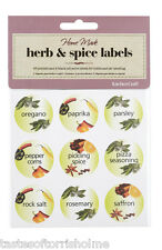 Kitchen Craft 3.5cm Round Self Adhesive Herb & Spice Jar Labels 45 per Pack