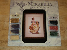 """Mirabilia MD34 """"SPRING QUEEN"""" Pattern & Required Mill Hill Beads NORA CORBETT"""