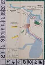 WW2 MAP ~ BATTLE OF EL ALAMEIN BREAK OUT ~ OPERATION SUPERCHARGE THOMPSON POST