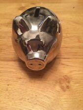 John Lewis Silver Plated Piggy Bank, small