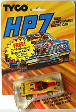 1985 TYCO HP7 Yellow & Red #9 PORSCHE 906 HO Slot Car 6973 Sealed