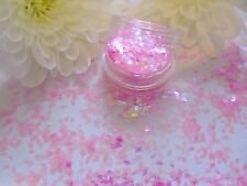Nail Art Translucent Pink Diamond Colour-Change Holographic Pot Spangle Glitter