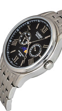 Casio Watch  BEM-312D-1  Stainless Steel ALL , 50M, Men's Watches date day moon