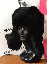 Pelzmütze Fell Mütze TRUE VINTAGE LAPEER fur Hut Winter мех шляпа hat black Pelz