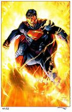 2014 NYCC SUPERMAN ART PRINT BY JIM LEE & ALEX SINCLAIR  11x17 #'d xx/52