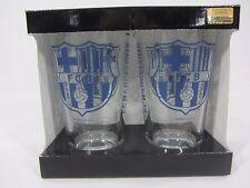New Set FCB FC Barcelona Beer Glasses Cup Official Logo Team Pint 16 Oz NIB