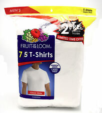 14 White XL 46-48 Inch Fruit Of The Loom Crew Neck T-Shirts EG TG 117-122 CM