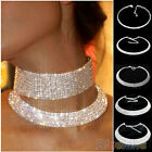 Lady Charming Crystal Rhinestone Collar Choker Necklace Wedding Birthday Jewelry