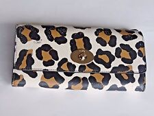 Cute COACH 2PC  Ocelot Large Wallet Animal Print Trendy Brown Gold Hardware Nice