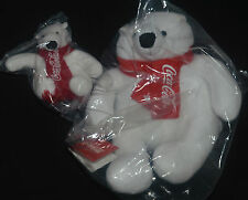 "Coca-Cola COKE POLAR BEAR 4"" & Large Red Scarf Reward Member Exclusive"