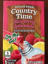 2 Boxes Country Time Raspberry Lemonade On The Go Drink Mix Water Flavoring