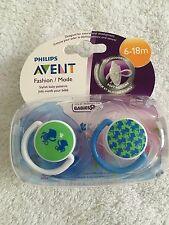 Philips Avent fashion orthodontic pacifier 2 pack 6-18 months monkeys