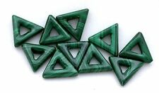 ONE 12mm Custom Cut Triangle With 3.8mm Center Hole Malachite Gemstone African