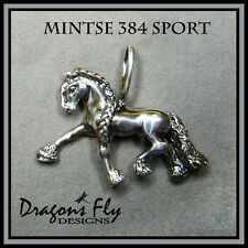 Horse Jewelry Equine Pendant Sterling Silver Friesian Dressge Horse Necklace
