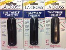 3 X La Cross by Sally Hansen Tini-Tweeze Tweezers Point Tip # 71928 NEW + SEALED