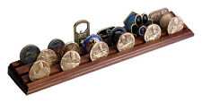 NEW 3 Row Walnut Challenge Coin Rack Stand. 70001.