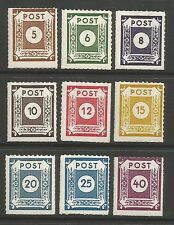 EAST SAXONY. 1945. Rouletted White  Paper Set. Mi: 42G/50G. Mint Lightly Hinged.