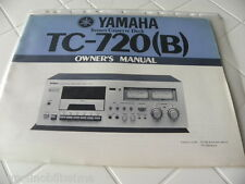 Yamaha TC-720 (B) Owner's Manual  Operating Instructions Istruzioni New