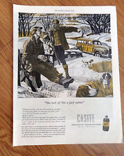 1947 Casite Ad  Guys Ford Station Wagon Rabbit Hunting Beagle Dogs