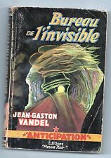 Fleuve Noir Anticipation 61. Bureau de l'Invisible par VANDEL. 1955.