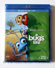 Disney Pixar A Bug's Life Blu-ray & DVD Combo Pack Ants Grasshopper & Other Bugs