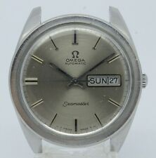 VINTAGE Omega Seamaster Day Date Mens Steel Automatic Watch 168.023 c.750 36.5mm