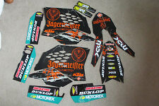 TEAM JAGER KTM GRAPHICS  SX SXF 07 08 09 10  & EXC XC XCF 08 09 10 11  BLK