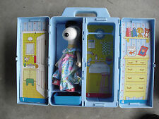 """Vintage 1982 Knickerbocker 8"""" Snoopy Belle Doll with Carry Case LOOK"""