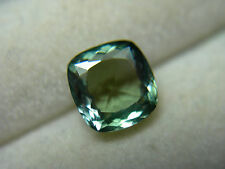 rare Fancy Green Tanzanite gem Natural Zoisite Tanzania Untreated square cushion