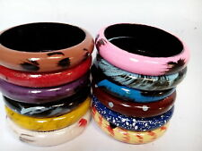 Multicolor Set of 12 Hand Paint Fashion Jewellery Wooden Bangles For Rakhi Gift