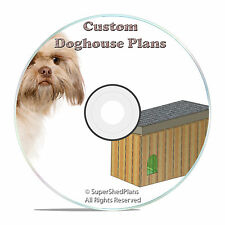 "DIY Insulated Dog House Plans, easy to build, Large Breed, 56"" Wide, detailed CD"