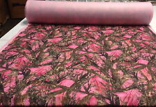 "FLEECE MC2 PINK SWEATSHIRT BLANKET HUNTING  FABRIC TRUE TIMBER 58""W CAMOUFLAGE"