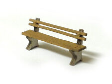 LASER CUT MODERN PARK BENCHES PACK OF 8 OO SCALE / 1:76 MODEL RAILWAY - LX012-OO