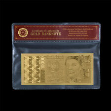 WR Portugal Banknote 10000 Escudos Gold Foil Plated 1998 Edition