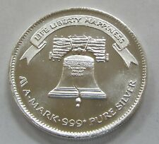 "1984 A-Mark Liberty 1oz. .999 Silver Art Round ""The Liberty Bell"""