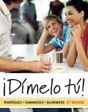 World Languages:¡Dimelo Tu!:A Complete Course by Francisco Rodriguez w/4 New cds