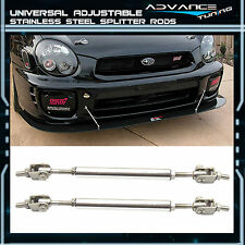 5.5-8 Stainless Steel Adjustable Front Rear Splitter Rods Support Stabalizer