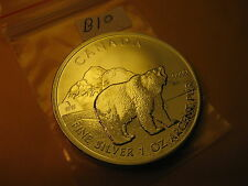 2011 CANADA WILDLIFE POLAR BEA 1 OZ FINE SILVER $5 COIN MINT GRADE BEAUTY ID#B10