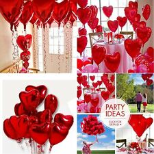 "10x 18"" Red Heart Love Foil Helium Balloons Valentines Wedding Engagement Party"