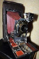 1900's EASTMAN KODAK 3A FPK model B-2 folding Red Bellows camera