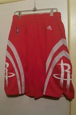 ADIDAS NBA HOUSTON ROCKETS  GAME SHORTS SIZE MED,STITCHED ON PATCHES,RED EX COND