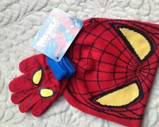 1Set Spider-man knit beanie hat lovely children winter hat and gloves Set Q-8