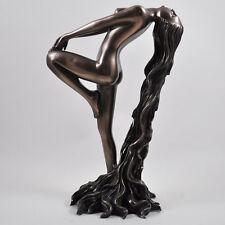"""""""derivanti"""" Art Deco Lady Freddo Gettare Bronzo Scultura/Figurina. NUOVI E CONFEZIONATI"""