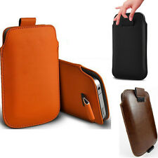 Fashion Phone Cases Cover Slim Gift Sleeve Leather Pouch Orange For iPhone 5 5S