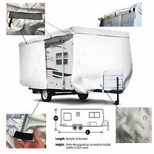 ShieldAll™ Shasta Compact Travel Trailer Camper Cover W/ Zipper Door Access