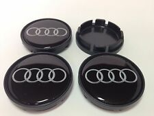 AUDI 4 x Plastic Wheel Centre Cap Hubs with Silicone Logo 55mm/50mm NEW