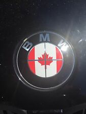 CANADA CANADIAN FLAG BMW EMBLEM OVERLAYS STICKERS - FITS EVERY BMW MODEL!