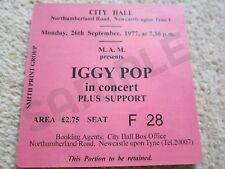Iggy Pop/Stooges Concert Coasters Ticket September 1977 High quality