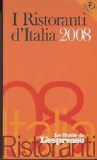 I ristoranti d'Italia 2008 - E. Vizzari - Libro Nuovo in Offerta!