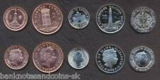 ISLE OF MAN COIN SET 1+2+5+10+20 Pence 2008 UNC UNCIRCULATED LOT of 5